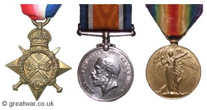 3 Campaign Medals Awarded: Pte.James Ernest Beaney