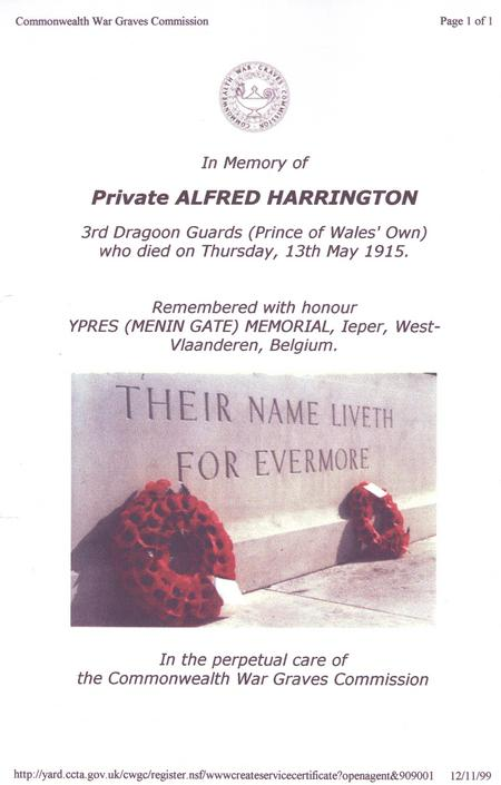 Copy of Alfred'd CWGC memorial