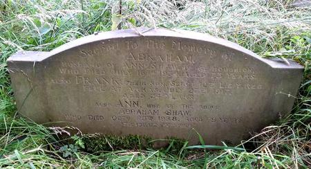 Family gravestone commemorating Frank Shaw