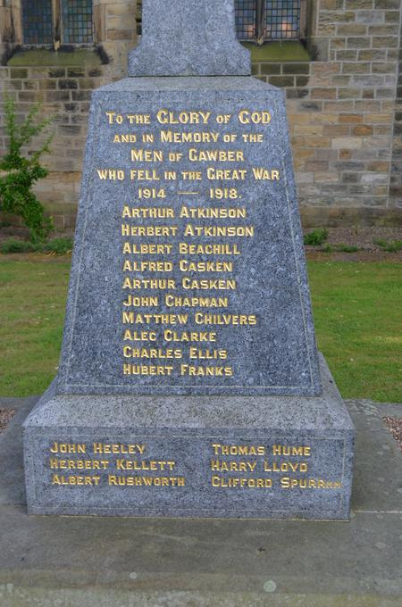 Gawber St. Thomas War Memorial