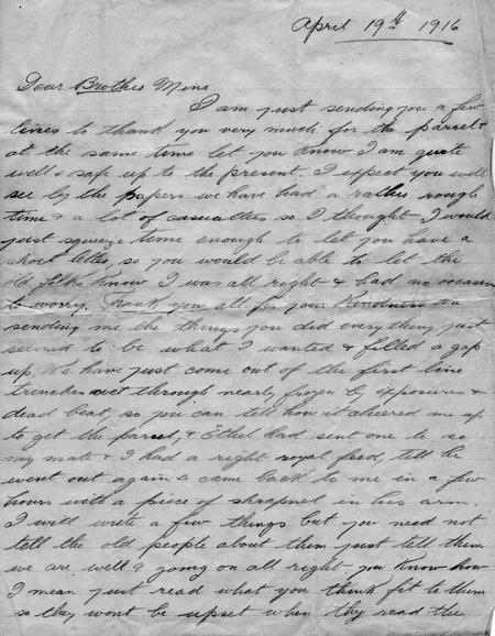 Letter from France, page 1 of 4