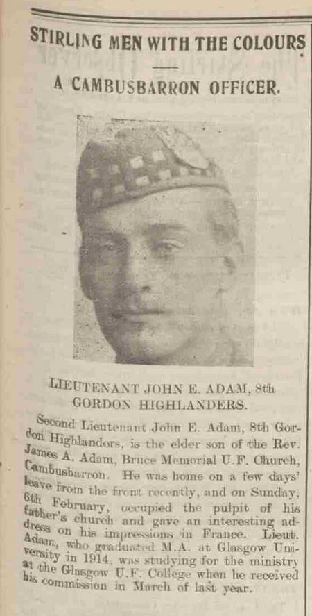 Stirling Observer 15 February 1916