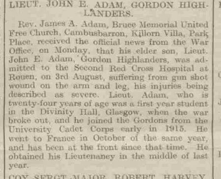 Stirling Observer 10 August 1916