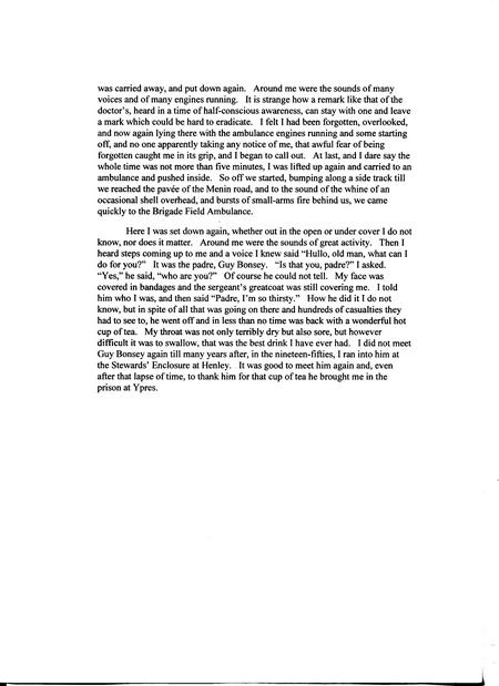 ACN extract from memoirs page four