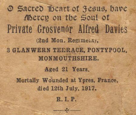 Profile picture for Grosvenor Alfred Davies