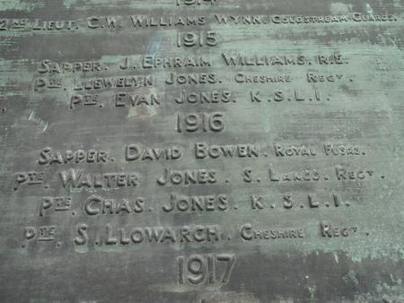 Meifod War Memorial, Meifod Church