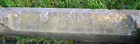 Family gravestone commemorating John Betchetti