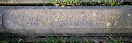 Other kerbstone re John Betchetti family