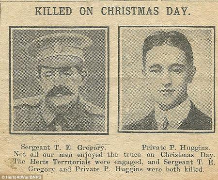 Killed on Christmas Day