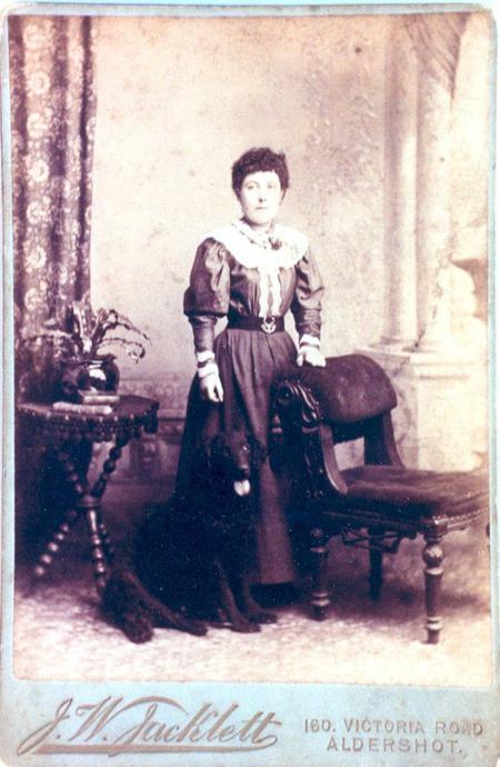 1899 engagement photo of Joseph's fiancee, Ellen