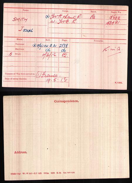 1916 - medal rolls index