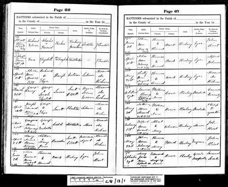 1880 baptism record for Joseph Edward Smith