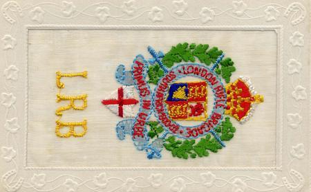 London Rifle Brigade Silk Postcard
