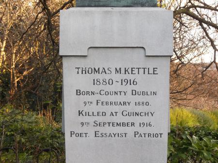 Statue to Lt. Thomas Kettle, Dublin, Ireland