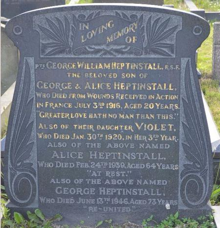 George Heptinstall remembered in Barnsley Cemetery