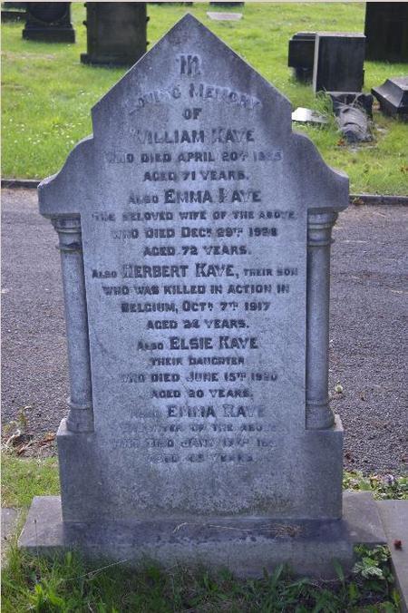 Herbert remembered in Barnsley Cemetery