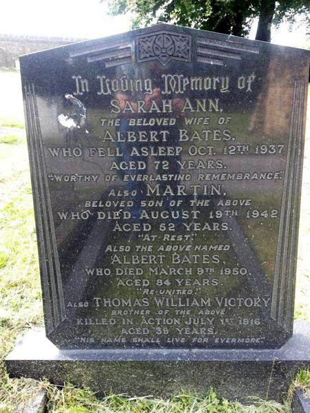 Thomas remembered in Monk Bretton Cemetery