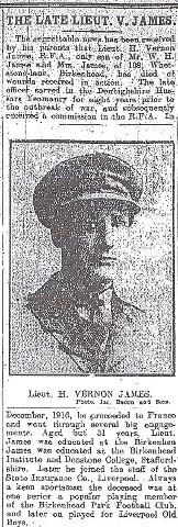 Lt. H V James