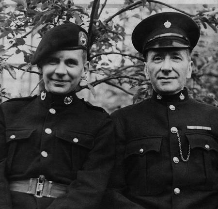 George & son Edward in uniform