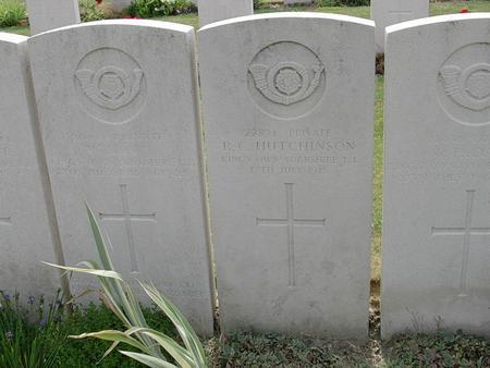 War grave of Robert Clegg Hutchinson
