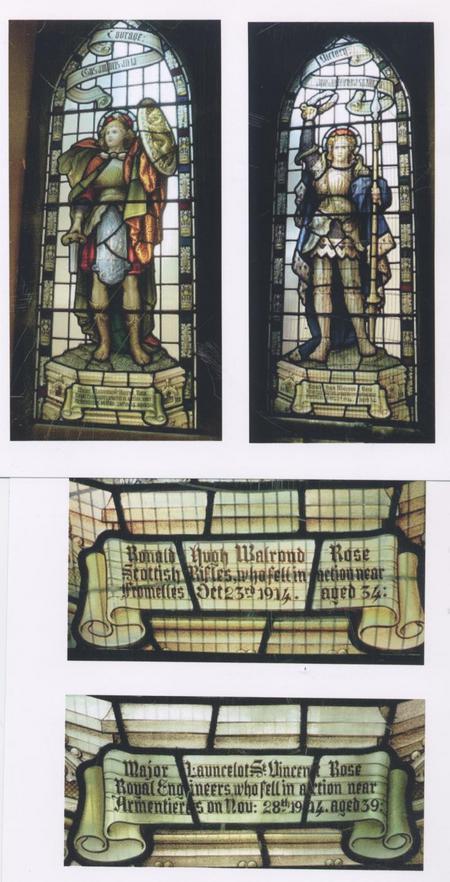 Memorial windows Creich Church. Bonar Bridge