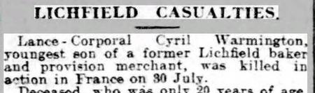 Evening Despatch 14 August 1915