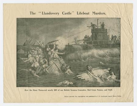 The sinking of Hospital Ship Llandovery Castle