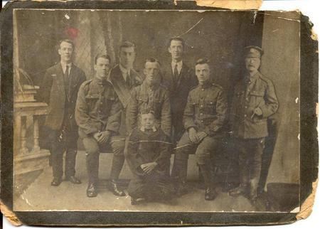 Isaac with his sons during WW1