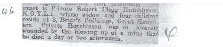 Cutting from Barnsley Chronicle