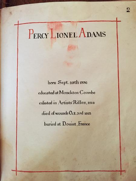 Profile picture for Percy Lionel Adams