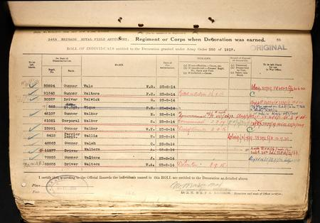 Stanley Walker Service Medal Roll 1915 Star