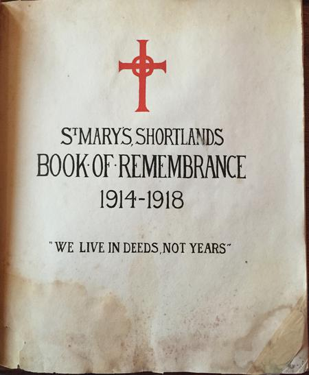 St.Mary's, Shortlands, Book Of Remembrance