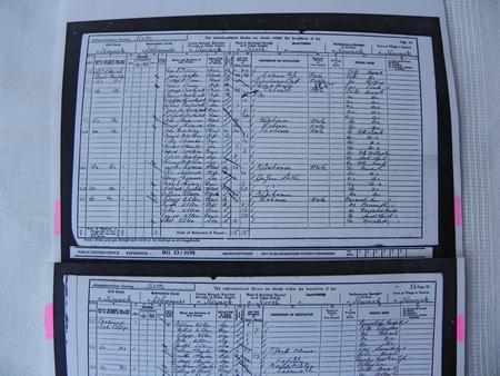 Allen family, 1901 census