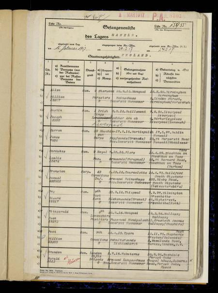 ICRC list, Hameln, Germany
