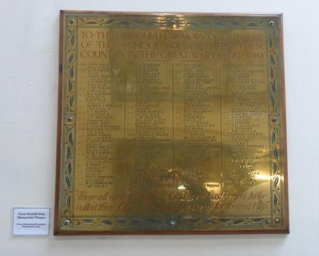 Birkenhead Instittute Roll of Honour 1914-1918