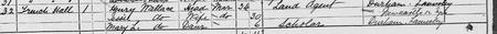 Extract from 1881 England, Wales & Scotland Census