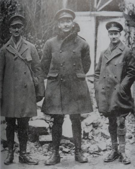 Major B L Montgomery (right) at Arras, 1916