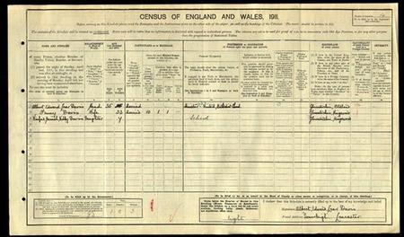1911 Census for Winifred Hannah Webley Davis