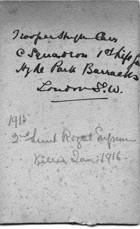 Reverse of 1914 portrait