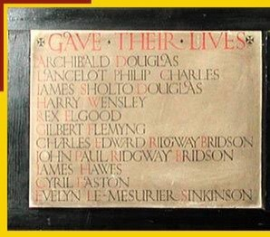 Memorial in St. Silas's Church, Kentish Town