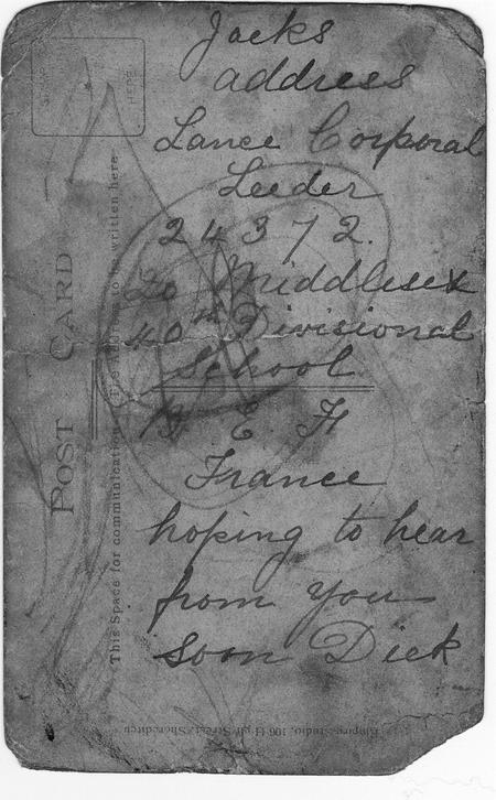 WW1 Address