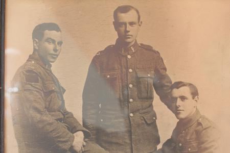The three Richards brothers in uniform