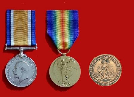 An example of Private Barnes's medals