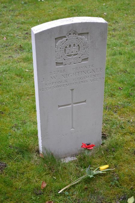 John William Nightingale, Headstone, Cherry Hinton