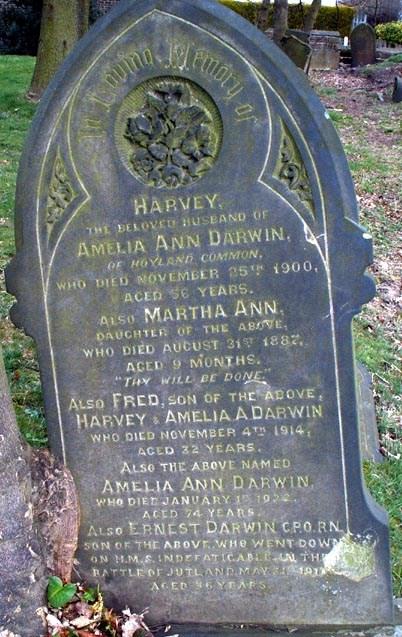 Ernest Darwin remembered in Hoyland Churchyard
