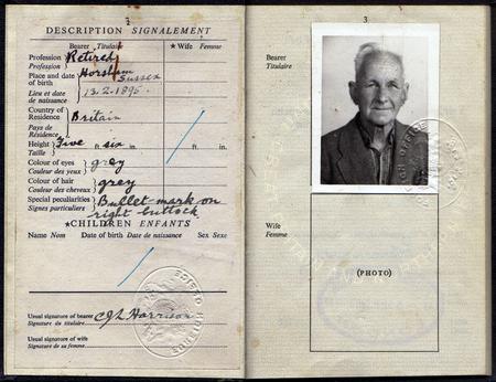 Cecil Harrison's passport