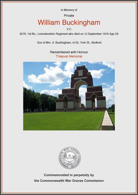 CWGC certificate