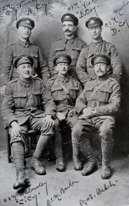 Group of 1/6th Bn. West Yorks Regt Sergeant Majors