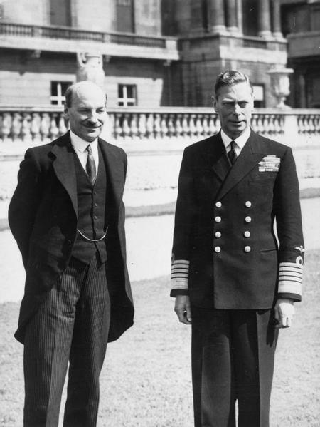 Attlee & King George VI after Labour's '45 victory