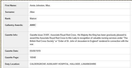 Award of Royal Red Cross